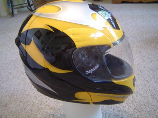 Custom Painted Motorcycle Helmet