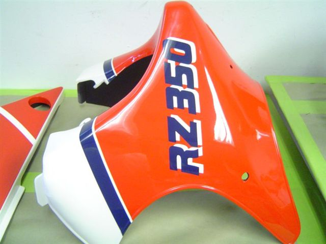 Custom painted 1984 yamaha rz 350 2 stroke for Friendly honda baton rouge